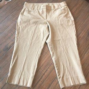 "Lane Bryant size 18 tan ""The Lena"" Capri pants"